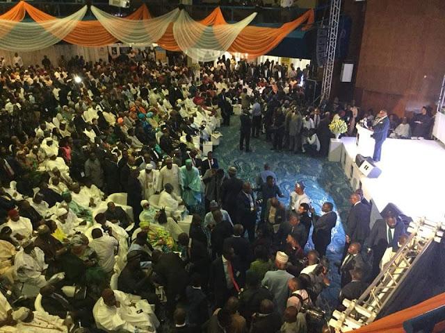 GEJ book launch: Oshiomhole, Akpabio make surprise appearances