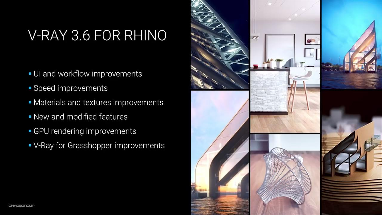 V-Ray 3 6 for Rhino | Webinar | Computer Graphics Daily News