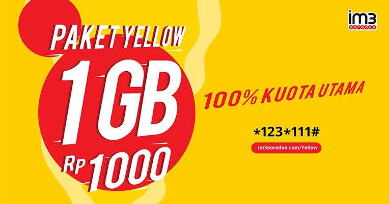 Cara Daftar Paket IM3 Yellow 1 GB, Update Terbaru Selain Pulsa Safe