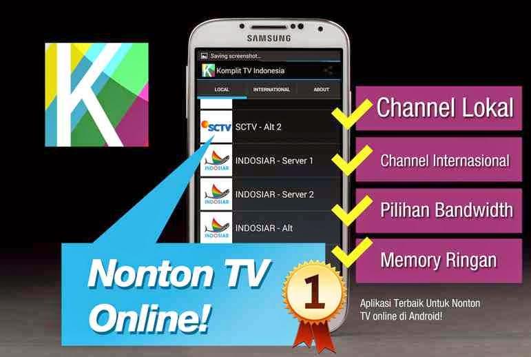 Cara Nonton TV Line Di Handphone Roid Coba Caraku