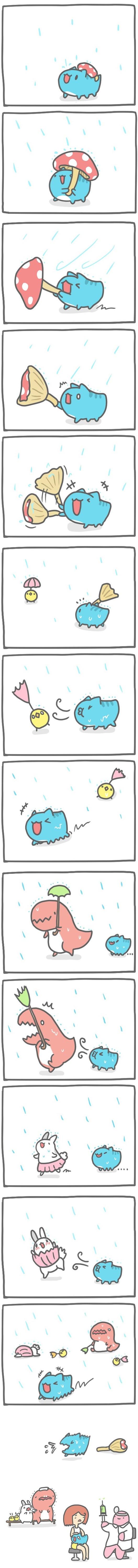 Truyện Mìn Lèo #99: Vui đùa dưới mưa