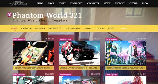 Phantom World 321 Anime Fansub Responsive Blogger Templates