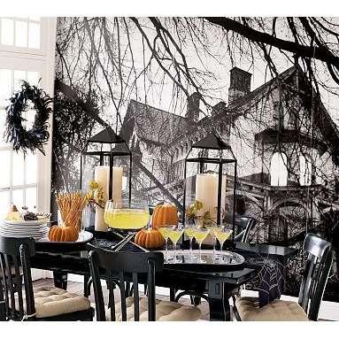 a sweet halloween with halloween wall mural - Halloween Wall Mural