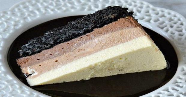 Brownie-Bottom Triple Chocolate Mousse Recipe