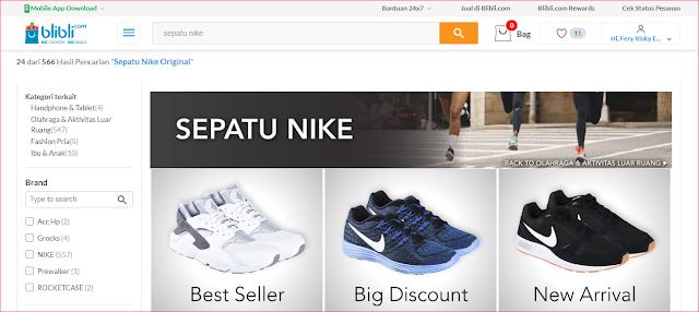 Jual sepatu Nike
