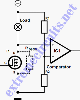 MOSFET short-circuit protection schematic