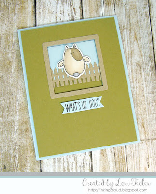 What's Up, Dog? card-designed by Lori Tecler/Inking Aloud-stamps and dies from My Favorite Things
