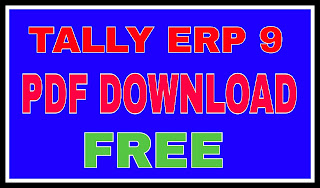 Tally ERP 9 Notes pdf Free Download in hindi-Tally Kya Hai or Hindi me Kese Sikhe