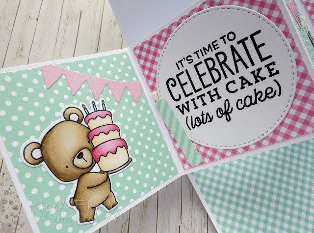 Twist and pop birthday card with cute bears from My Favorite Things