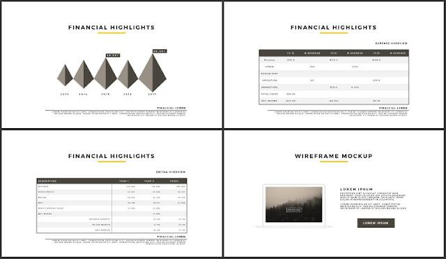 Desktop Screen Mock-up and Multi - Purpose Free PowerPoint Template [SIMPLE] Slides 41-44