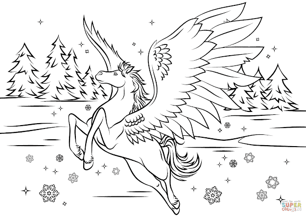 Click The Bella Sara Pegasus Coloring Pages
