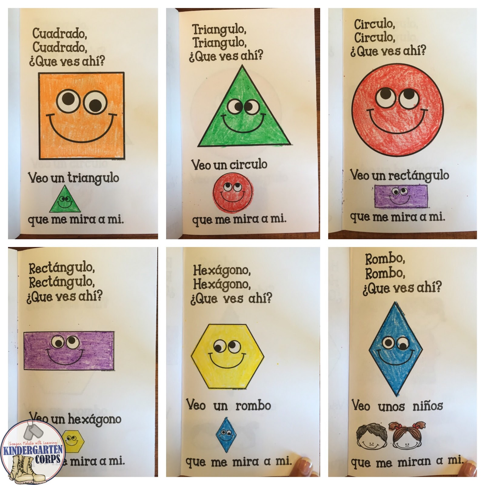 Kindergarten Corps Spanish Sunday 2d Shapes And