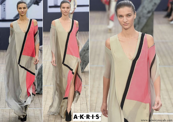 Princess Charlene wore Akris gown from Spring Summer 2019 collection
