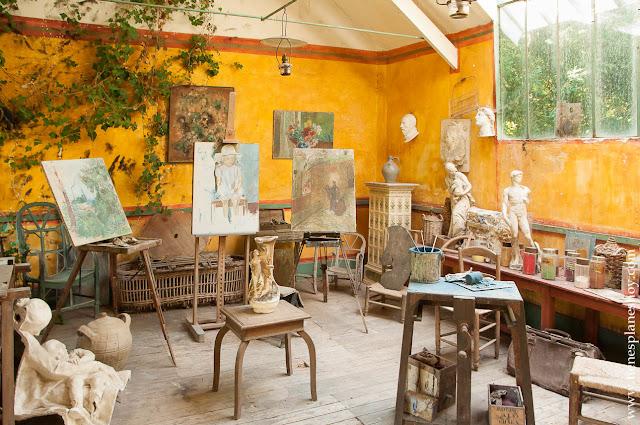 Hotel Baudy Jardin terraza Giverny viaje Normandia Francia