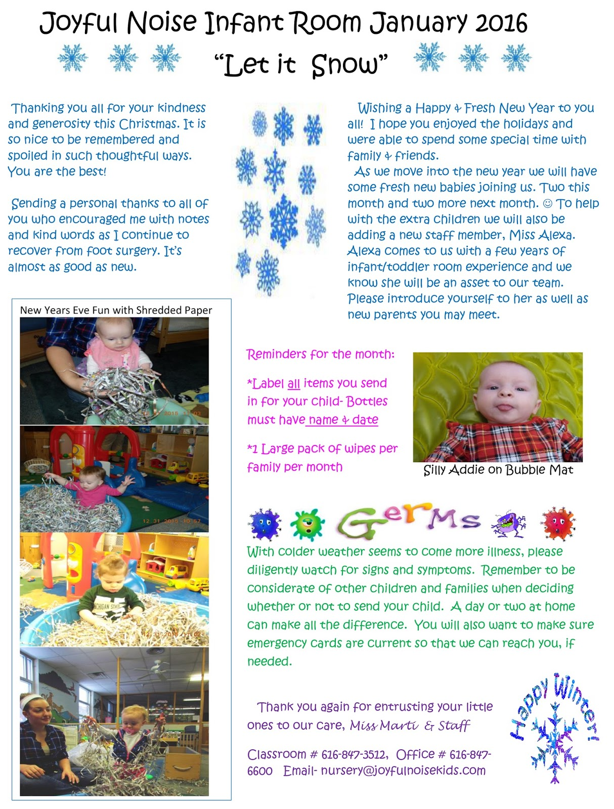 Daily Calendar December 2013 Tamil Daily Calendar 2018 2017 2016 2015 2014 2007 Infant Room News January 2016 Newsletter