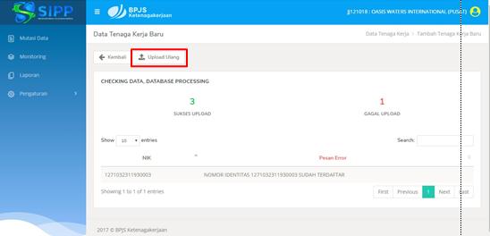 Petunjuk Penggunaan SIPP Online BPJS Ketenagakerjaan 32