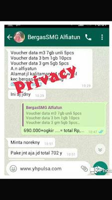 Contoh Order Paket Internet Murah Three