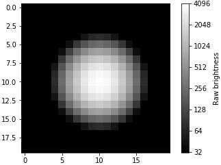 Show 12-bit tiff image with log scale colorbar using python & matplotlib.pyplot