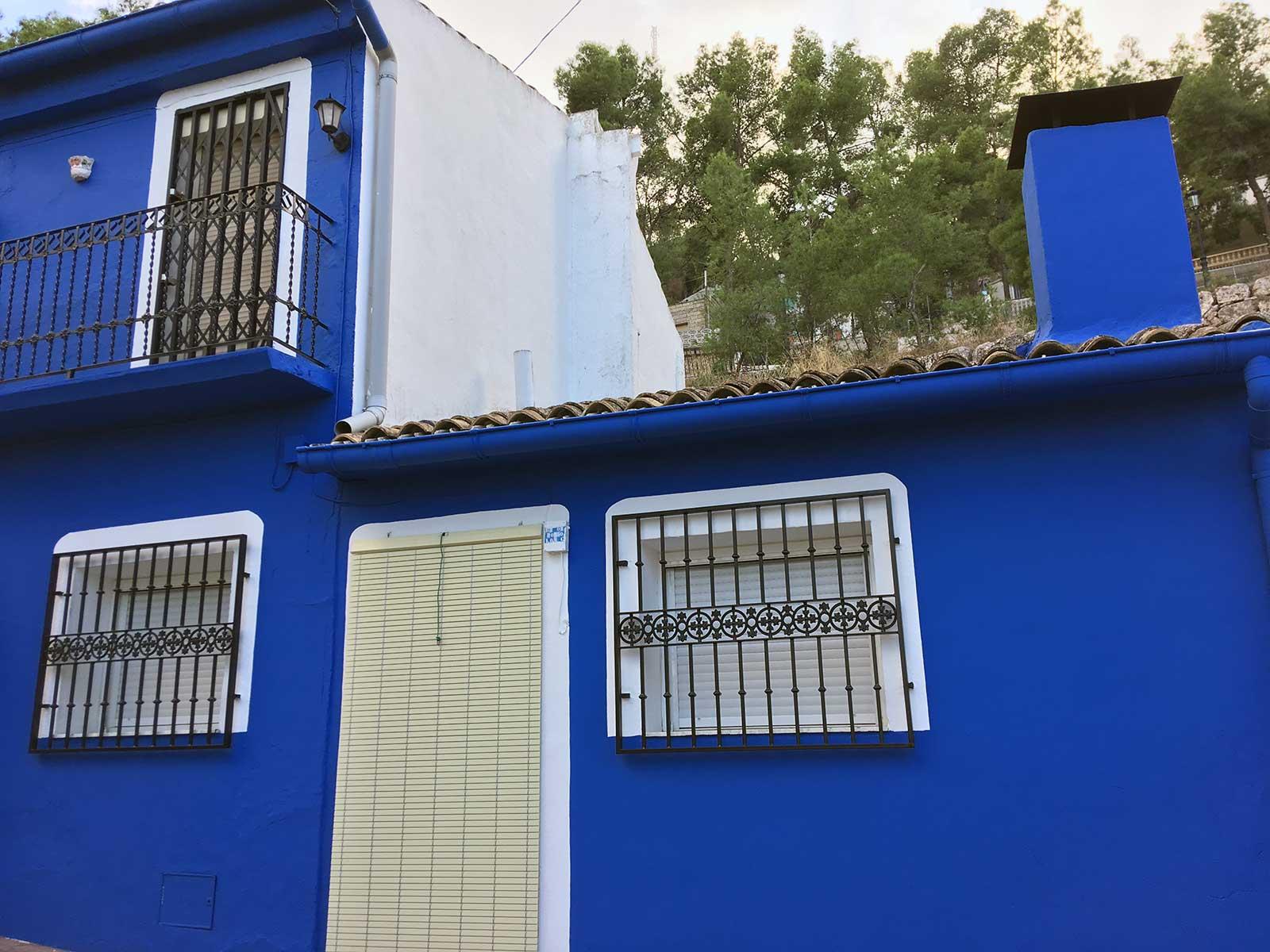 Yecla, casa azul. Sept. 2017