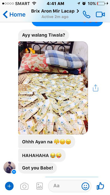 Couple Does The 'RICH-KID' Talk Using Their Peso Bills! Must Read!