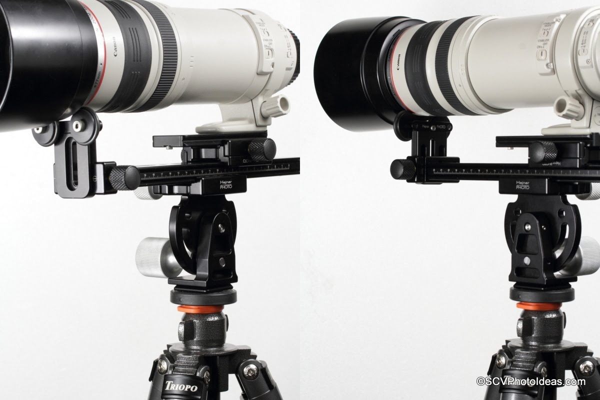 Canon EF 100-400 L IS USM mounted on Hejnar PHOTO Modular LLSB MOD-1 assembly clamped on MHR-1 Head