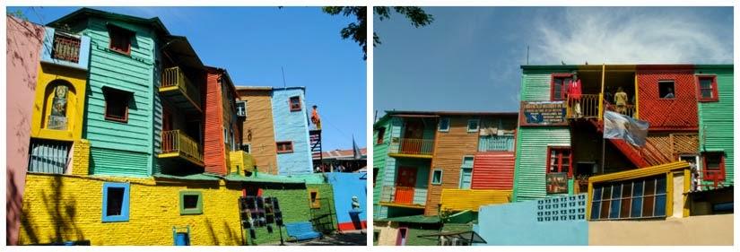 Casinhas coloridas no Caminito de Buenos Aires