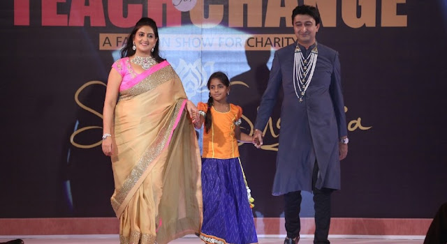 Celebrities at Teach for Change fashion show at The Park Hyderabad