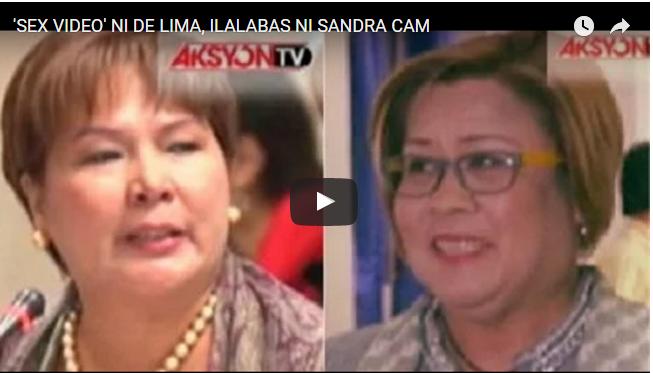 WATCH: SANDRA CAM REVEALED KUNG KANINO GALING ANG VIDEO SCANDAL NI DE LIMA, NAGBANTANG ILALABAS ANG IBANG SCANDAL!