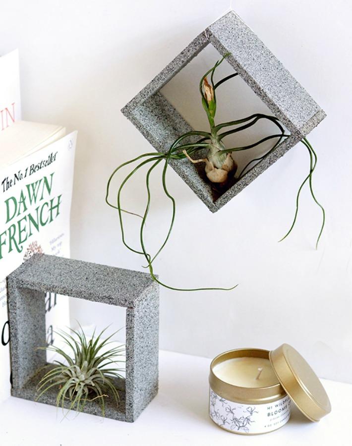 DIY Soporte (imitaci�n a granito) para plantas