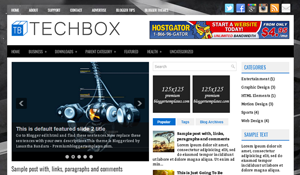 template TechBox Blogger Responsive