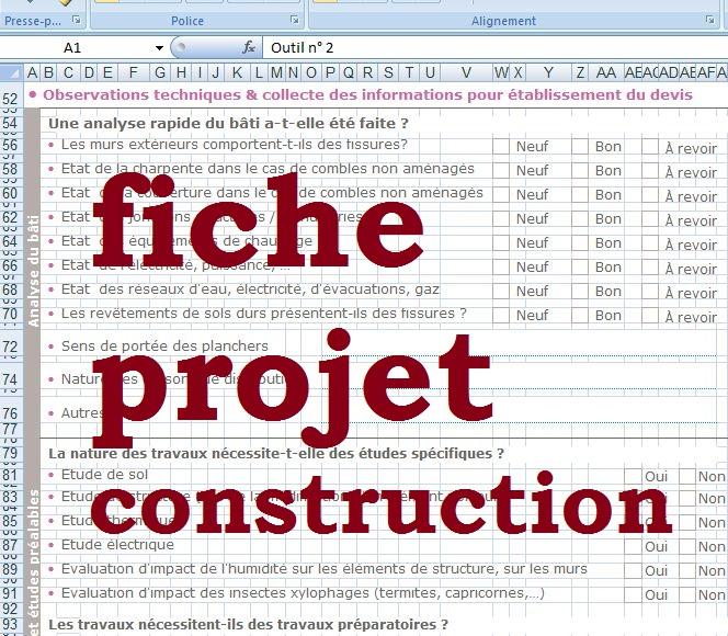 Fiche client pour projet de construction cours g nie for Fiche technique construction maison