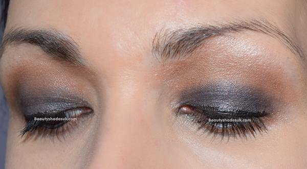 Blue and Brown Makeup Look
