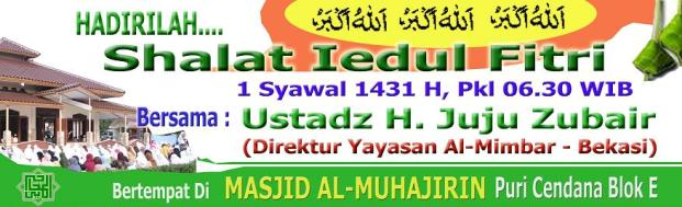 Contoh Inspirasi Spanduk Sholat Idul Fitri 1436 H 2017 M
