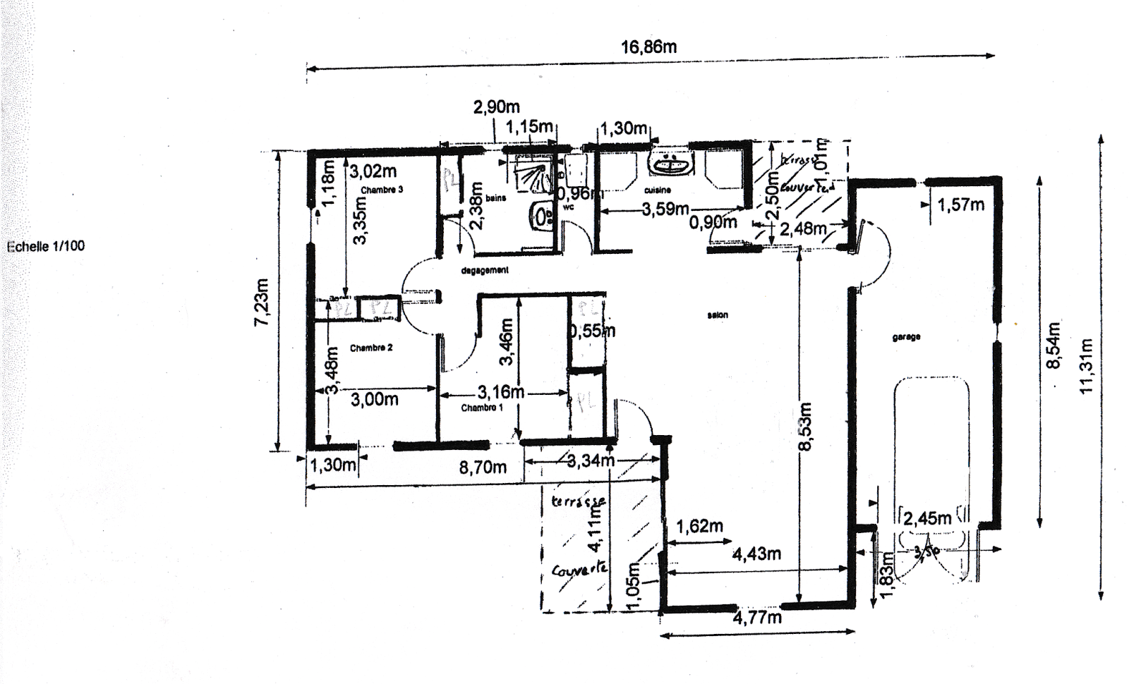 Maison ossature bois vendue a peipin sisteron 04200 for Plan architecte chambre hotel