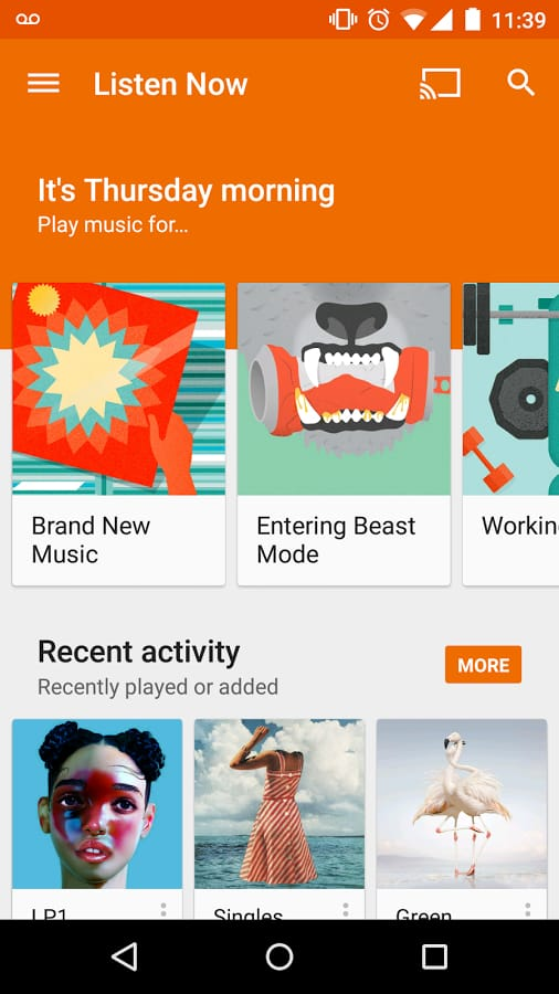 موسيقى Play برنامج لتشغيل كافه انواع الموسيقي