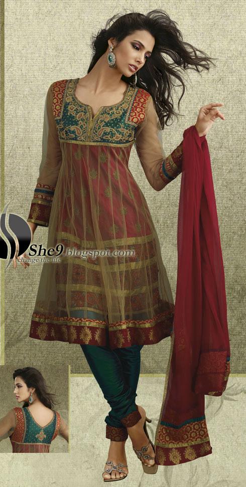Anarkali Umbrella Frocks: Fashion & Beauty: Anarkali Umbrella Frock Dress