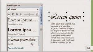 Pratinjau Font Coreldraw X7