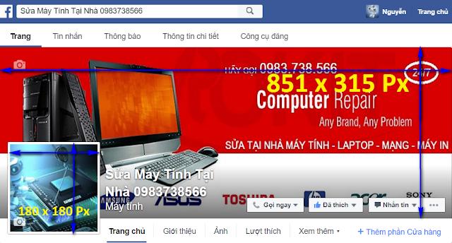 Kích thước chuẩn ảnh bìa Facebook