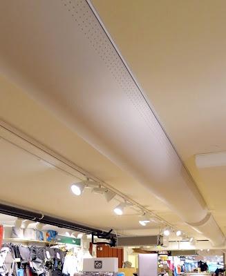 Laserskurna hål i butik