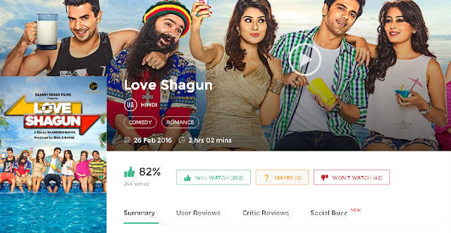Love Shagun 2016 Full Hindi Movie 700mb HD 300mb