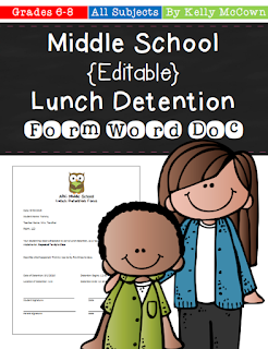 https://www.teacherspayteachers.com/Product/Middle-School-Editable-Lunch-Detention-Form-in-Word-Document-957600