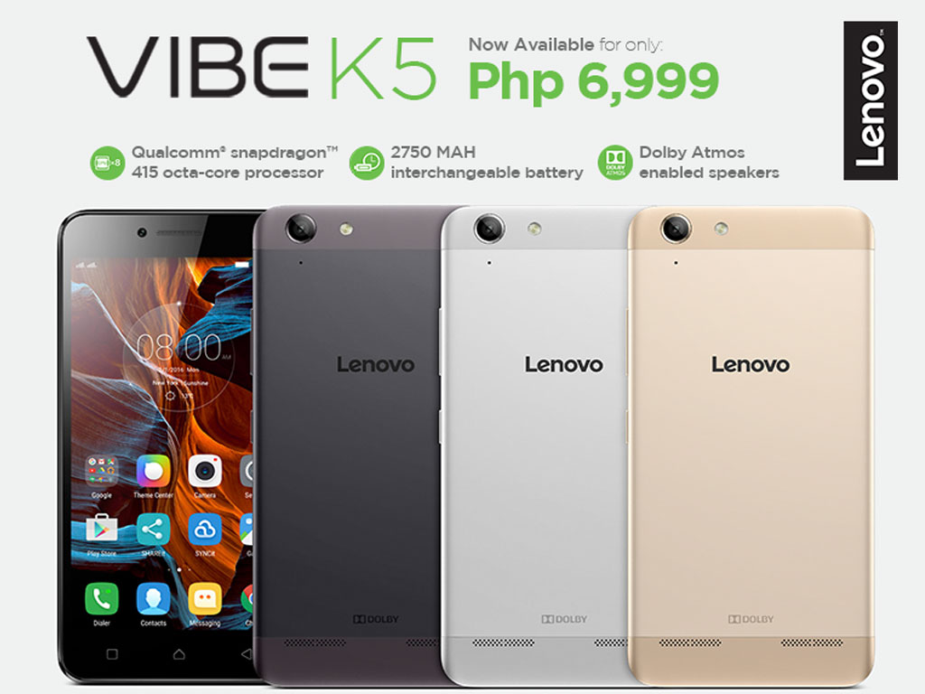 Lenovo Vibe K5 in the Philippines
