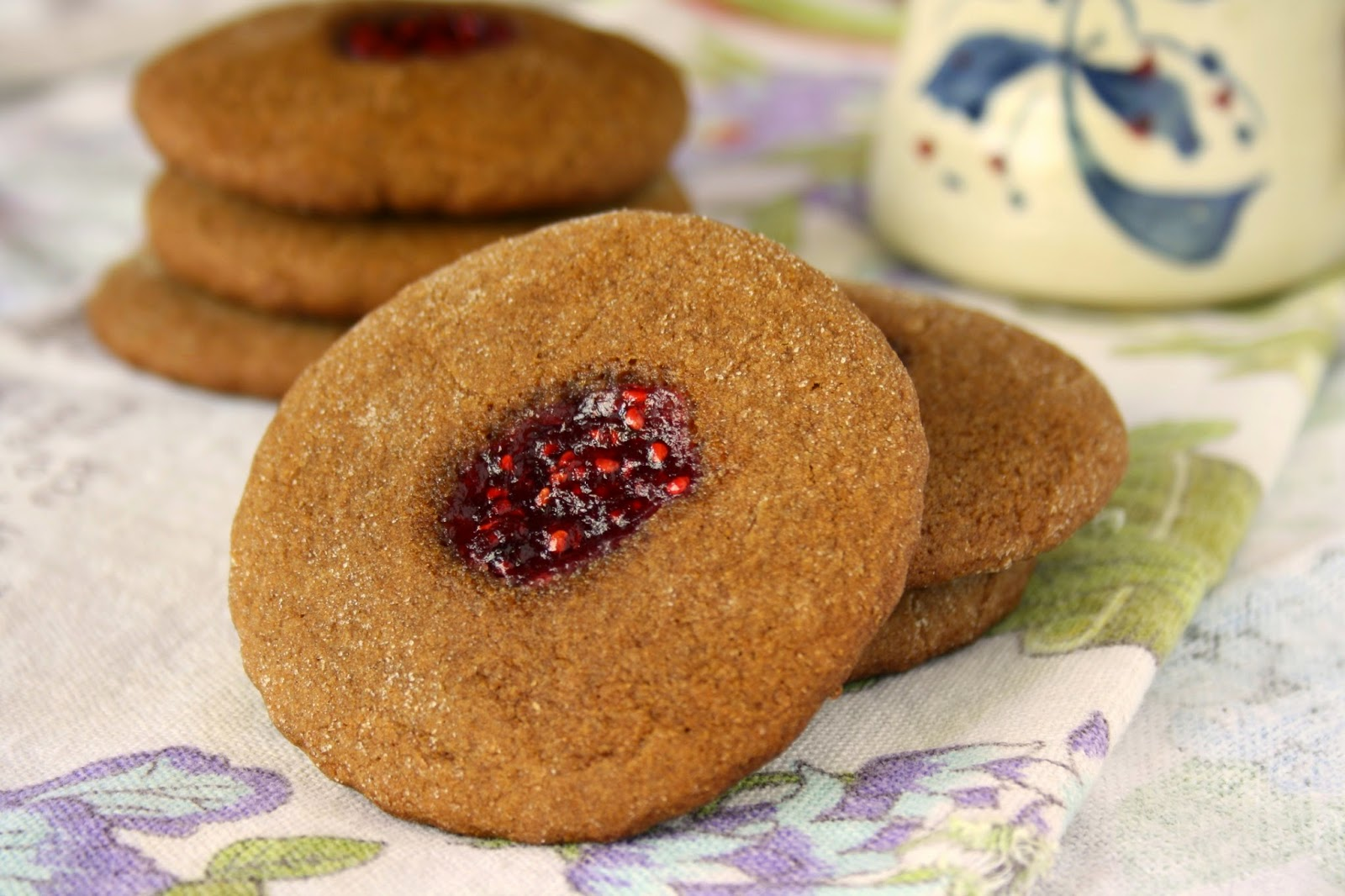 Molasses thumbprint cookies