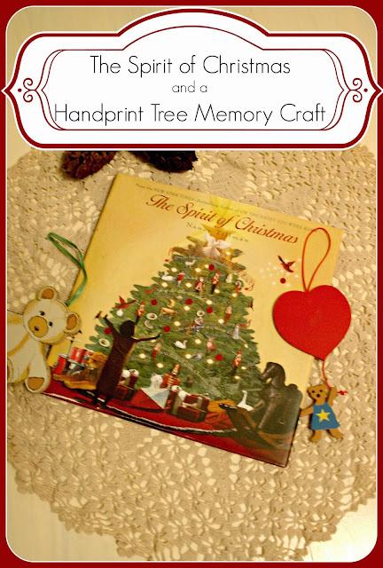 The Spirit of Christmas book and handprint Christmas Tree Craft