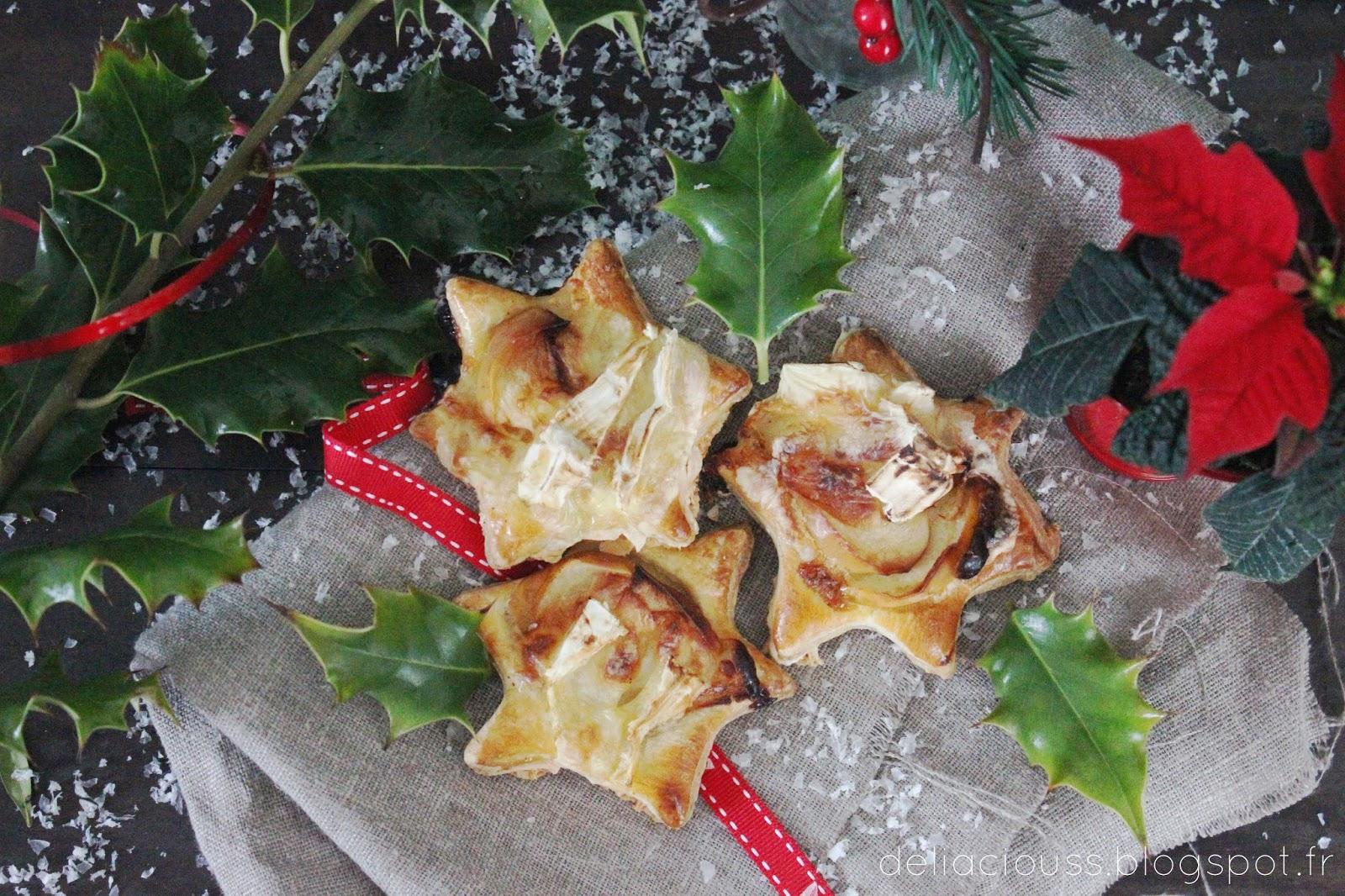 etoiles ap ritives feuillet es au camembert et aux pommes deliacious. Black Bedroom Furniture Sets. Home Design Ideas