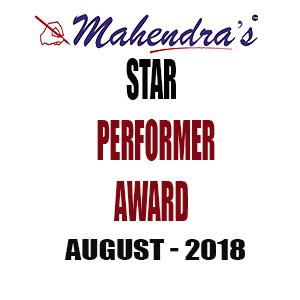 Mahendras Star Performer Award- August 2018