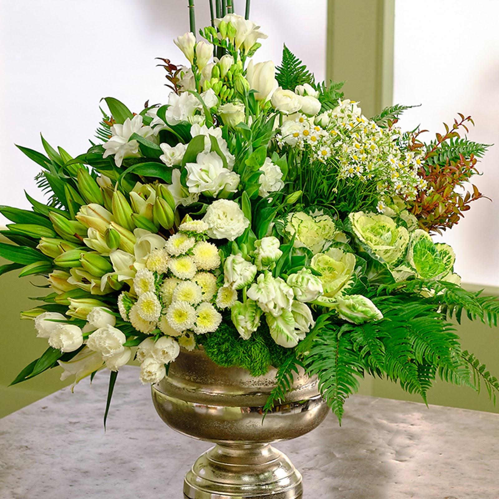 Colossal White Flower Arrangement Sun Valley