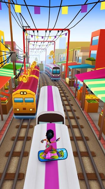 اخر اصدار من اللعبه المشوقة Subway Surfers