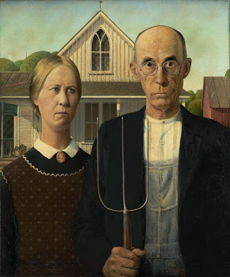 """American Gothic"" by Grant Wood, 1930"