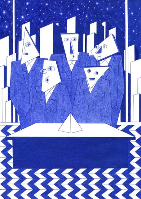 """LeClub"" por Kevin Lucbert | dibujos geometricos artisticos, imagenes chidas, cool art drawings"
